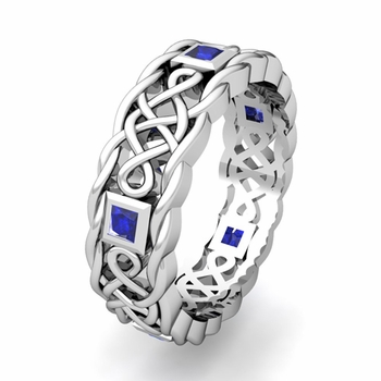 Create Celtic Knot Wedding Band Ring for Men with Gemstones and Diamonds