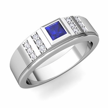 Create Fancy Wedding Band Ring for Men with Gemstones and Diamonds