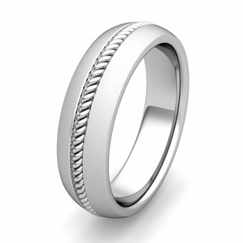 Customized Cable Wedding Band Ring for Men or Women in Gold or Platinum