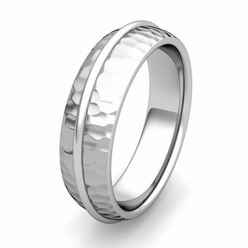 Customized Circle Wedding Band Ring for Men or Women in Gold or Platinum
