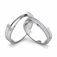 Infinity Wedding Band in 18k Gold Mens Matte Finish Ring 5mm