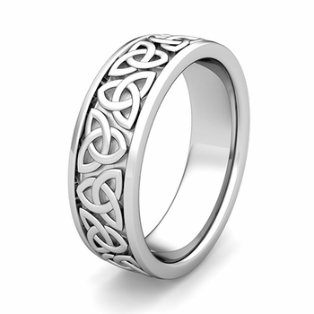 Customize Classic Celtic Wedding Ring for Men and Women in Gold and Platinum