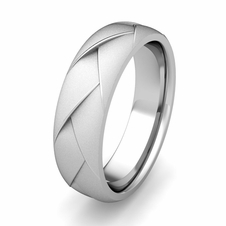 Satin Matte Comfort Fit Wedding Band Ring for Men in 14k Gold, 5mm
