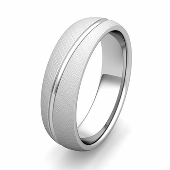 Customized Wave Comfort Fit Wedding Band Ring in Gold or Platinum