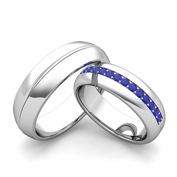 Customize Comfort Fit Wedding Bands for Him and Her with Diamonds and Gemstones