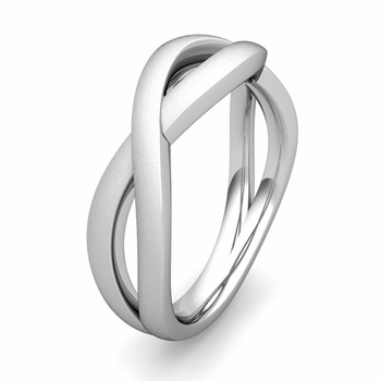 Customized Infinity Wedding Band Ring in Gold or Platinum