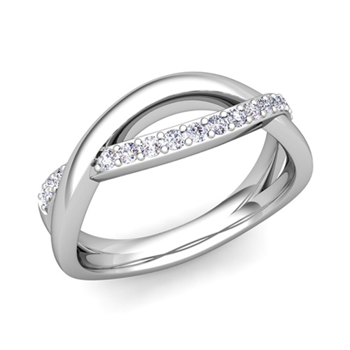 anniversary diamond bands band ring wedding stone