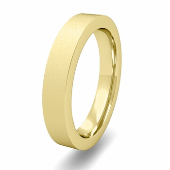 Flat Comfort Fit Wedding Band