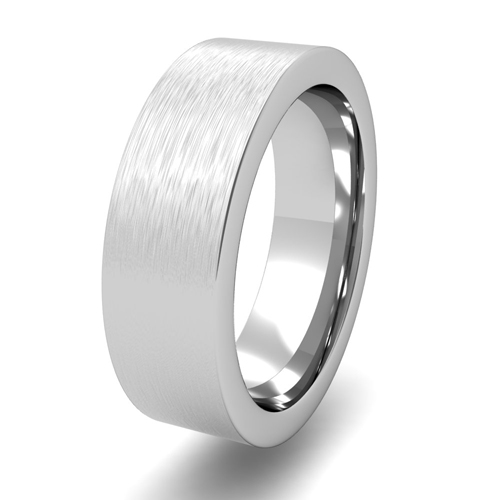 Order Now Ships On Monday 1 7order In 14 Business Days Flat Comfort Fit Wedding Band Platinum Brushed