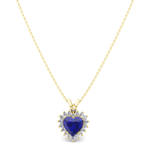 Heart sapphire and diamond necklace in 18k gold pendant order now ships on wednesday 613order now ships in 5 business days heart sapphire and diamond necklace aloadofball Gallery