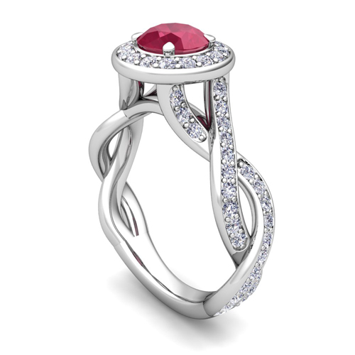engagement beers solitaire platinum ring aura de