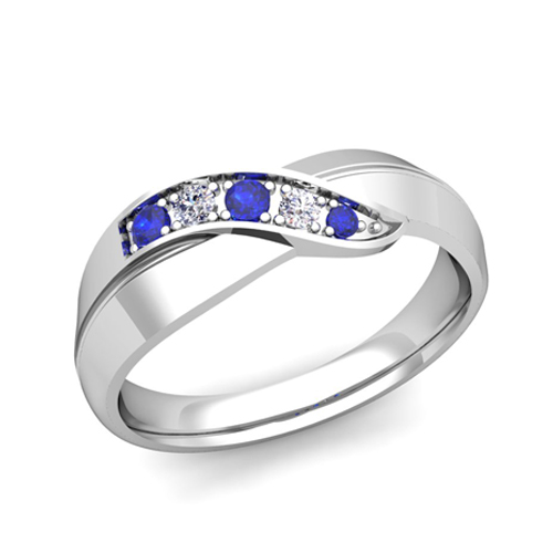 Order Now, Ships On Thursday 4/12Order Now, Ships In 5 Business Days.  Infinity Sapphire And Diamond Wedding Ring ...