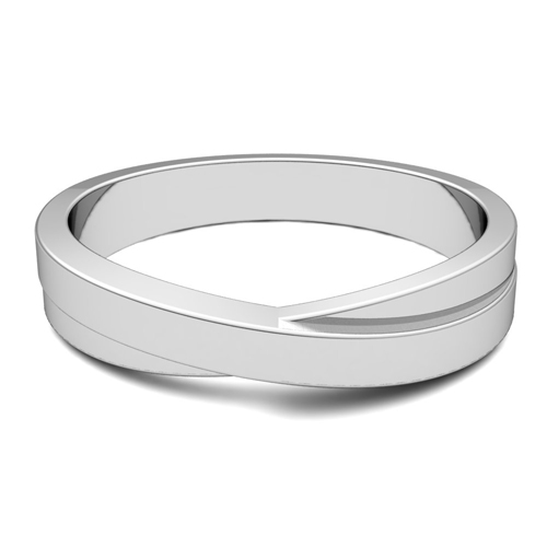 comfort fit wedding and brushed band rings polished