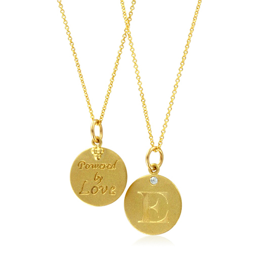 ships pendant e initial letter in with on days yellow gold order necklace wednesday chain business now diamond