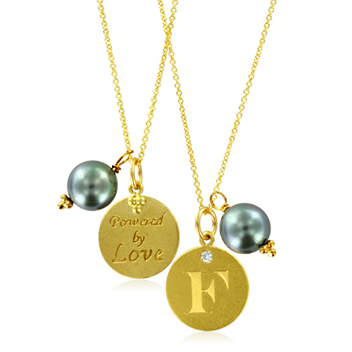 Initial necklace pearl charm letter f diamond pendant yellow gold order now ships on wednesday 718order now ships in 4 business days initial necklace aloadofball Gallery
