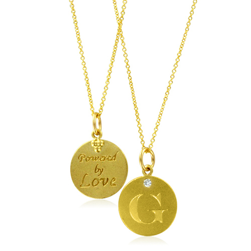 Initial necklace letter g diamond pendant with 18k yellow gold chain order now ships on monday 108order now ships in 10 business days initial necklace letter g aloadofball Image collections