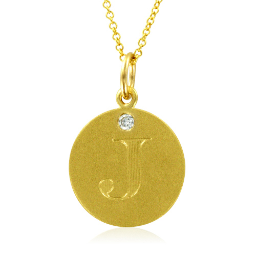 Initial necklace letter j diamond pendant with 18k yellow gold chain order now ships on friday 831order now ships in 10 business days initial necklace letter j diamond pendant aloadofball Gallery
