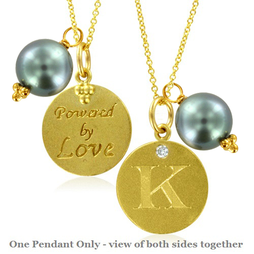 Initial necklace pearl charm letter k diamond pendant yellow gold initial letter necklace with pearl charm mozeypictures Images