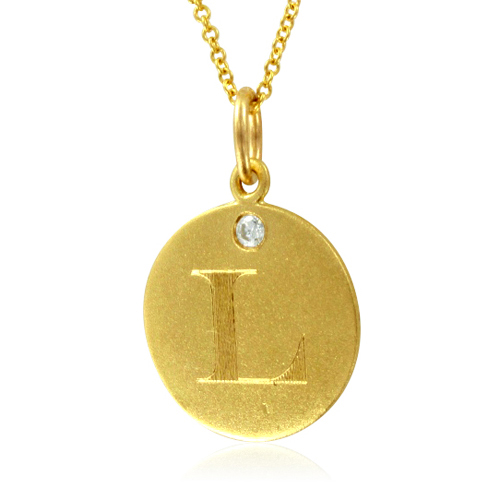 Initial necklace letter l diamond pendant with 18k yellow gold chain order now ships on wednesday 523order now ships in 4 business days initial necklace letter l diamond pendant aloadofball Choice Image
