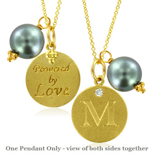 Order Now Ships On Monday 6 11Order In 4 Business Days Initial Necklace Letter M Diamond Pendant With A Pearl Charm 18k Yellow Gold