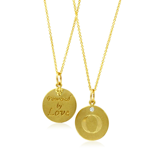 Initial necklace letter o diamond pendant with 18k yellow gold chain order now ships on friday 928order now ships in 10 business days initial necklace letter o aloadofball Choice Image