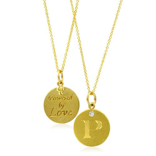 necklace p for necklaces rose three pendant initial gold women