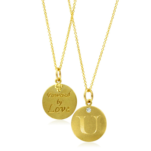 Initial necklace letter u diamond pendant with 18k yellow gold chain order now ships on monday 820order now ships in 10 business days aloadofball Gallery