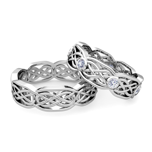 Celtic Wedding Band As His Ring Order Now Ships On Friday 1 11order In 12 Business Days