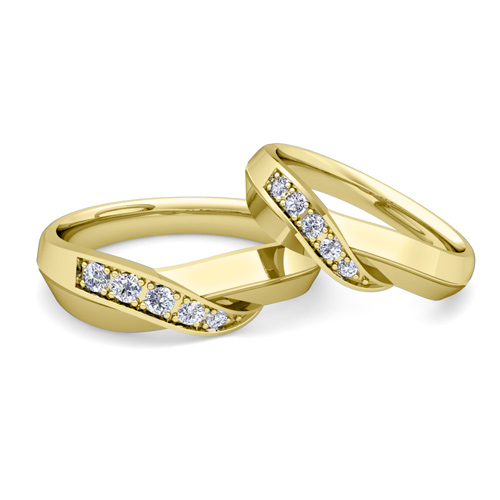 Order Now, Ships On Friday 4/13Order Now, Ships In 5 Business Days.  Matching Wedding Band In 14k Gold Infinity Diamond Wedding Rings