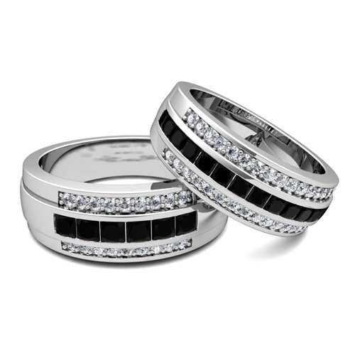 bands engagement and a gold rings band rose ring pair with metal what wedding to how match mixed mix