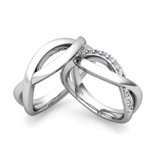 Matching Wedding Band In Platinum Diamond Infinity Rings