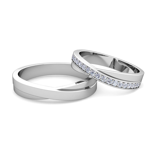 Infinity Wedding Band.Matching Wedding Band Infinity Diamond Wedding Ring Set In