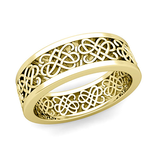 Order Now Ships On Monday 1 7order In 14 Business Days Celtic Heart Knot Wedding Band
