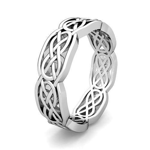 Custom Celtic Wedding Band For Men And Women In Gold And Platinum