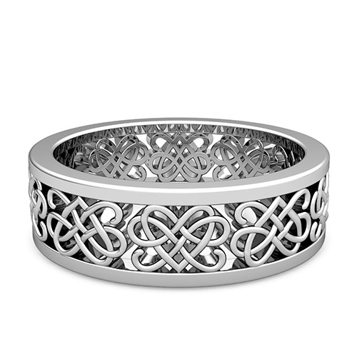knot wedding gold white celtic ring rings diamond
