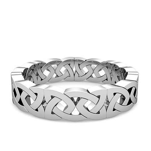 Eternity Celtic Knot Wedding Band