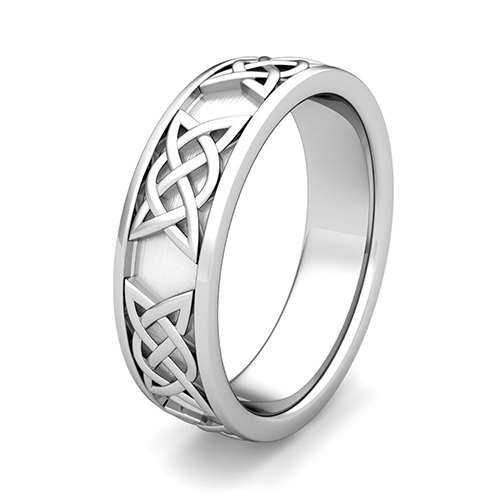 Order Now Ships On Monday 3 5order In 6 Business Days Legacy Celtic Knot Wedding Band Platinum Comfort Fit