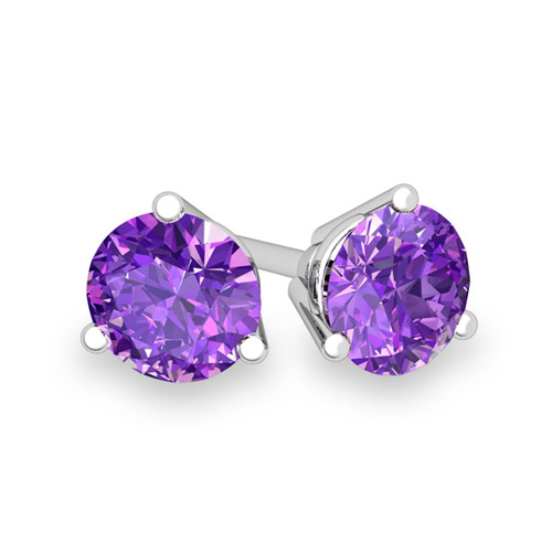 johanneshunter amethyst white and stud gold earrings com