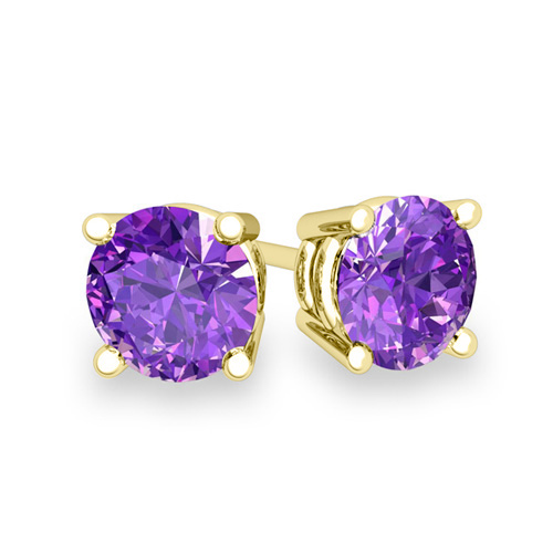 amethyst il france rose de pink stud earrings kwuq listing