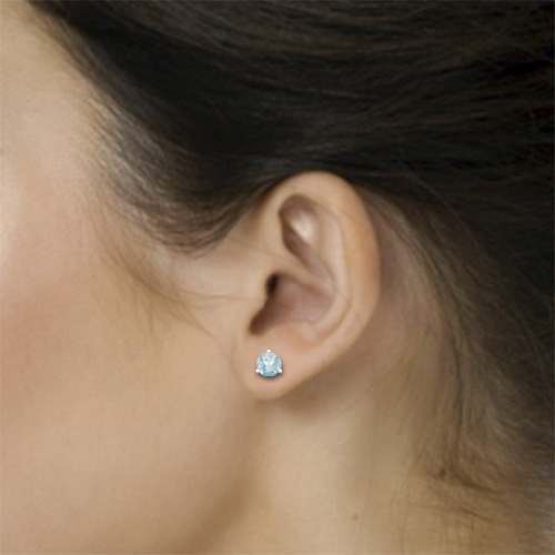 Order Now Ships On Monday 12 31order In 10 Business Days Aquamarine Stud Earrings