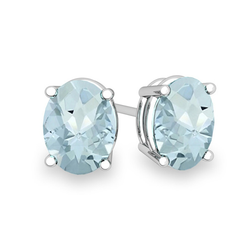 Order Now Ships On Thursday 7 19order In 4 Business Days Natural Oval Aquamarine Stud Earrings