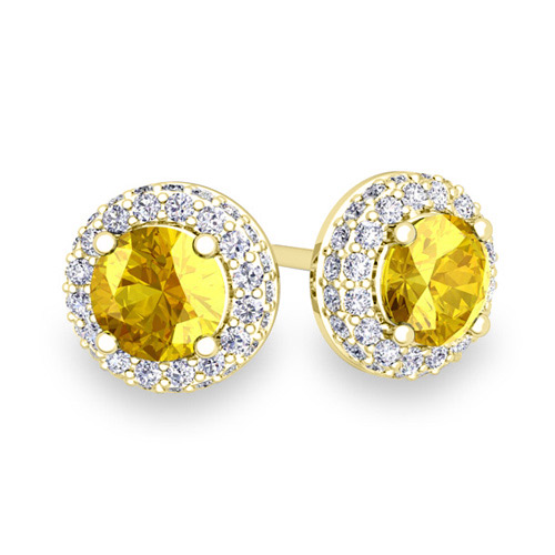 Order Now Ships On Monday 6 18order In 5 Business Days Pave Diamond And Yellow Shire Earrings