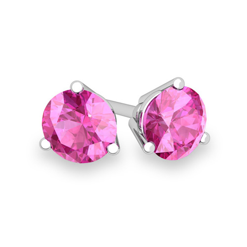 3 G Martini Pink Shire Stud Earrings