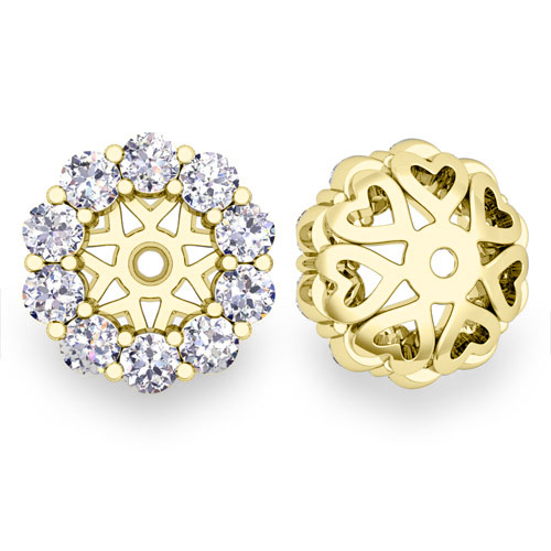 Halo Diamond Earring Jackets In 14k White Or Yellow Gold 5mm