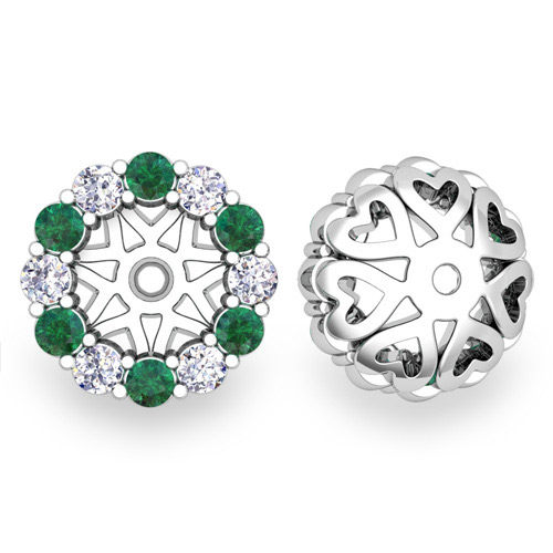 Order Now Ships On Friday 12 28order In 14 Business Days Halo Diamond And Emerald Earring Jackets