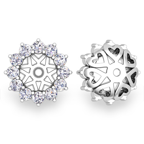 Order Now Ships On Monday 1 7order In 14 Business Days Halo Diamond Earring Jackets 18k Gold