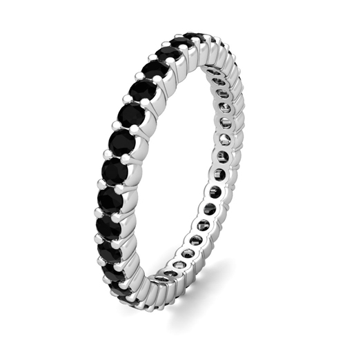 annivery half bands band eternity ring gold wedding rings diamond black white antique art milgrain deco