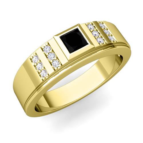 Modern Princess Cut Ring. This modern and unique mens wedding ...