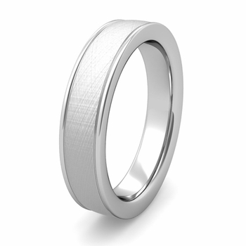 Ridged Edge Wedding Band