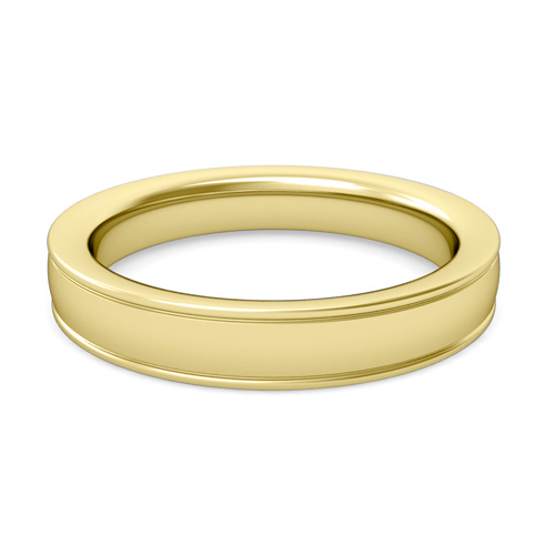 Polished Finish Comfort Fit Wedding Band For Men In 14k